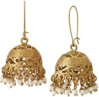 The Jewelbox Dainty Pearl Copper Jhumki Earring