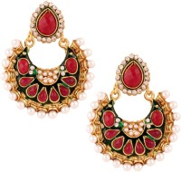 The Jewelbox Festive Pearl Copper Chandbali Earring