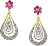 Pearls Cart Ad Stone Studded Peacock Theme Style Alloy Drop Earring - ERGEDKRQGXQGJZK3