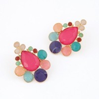 Cinderella Collection By Shining Diva Multicoloured Alloy Stud Earring