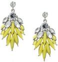 Crunchy Fashion Bohemian Yellow Crystal Alloy Drop Earring