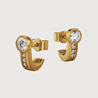 Aiza 18K Yellow Gold Plated 18 K Diamond Gold Stud Earring - ERGEYUXW2EU9ZZYK