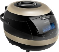 REDMOND RMC-151E, Digital Smart Multicooker Air Fryer, Rice Cooker, Food Steamer, Slow Cooker, Egg Cooker, Deep Fryer, Egg Boiler (5 L, Black, Gold)