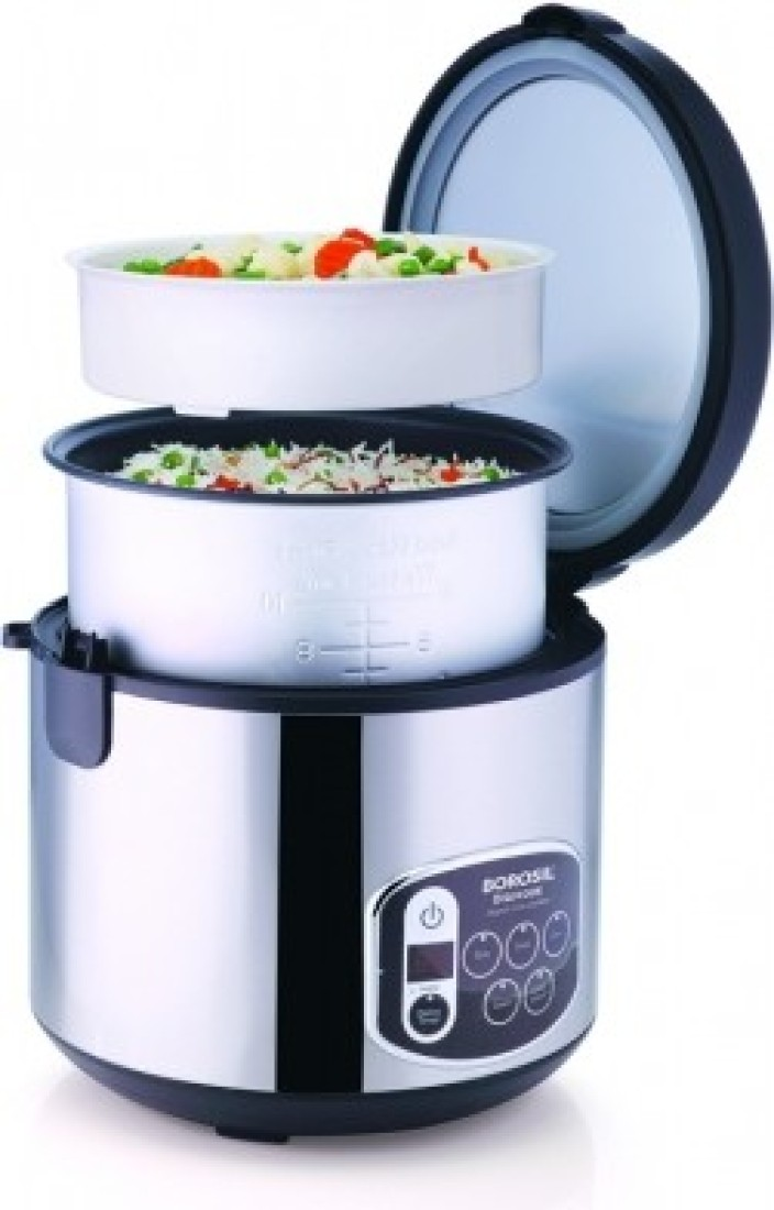 Electric Rice Steamer ~ Borosil digikook electric rice cooker and steamer ml