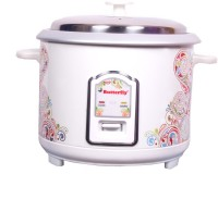 Butterfly Raga 1.8 L Electric Rice Cooker With Steaming Feature (White)