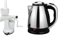 Black Cat Hand Juicer With Anmol TR-1108 Electric Kettle (1.8 L, Sliver)