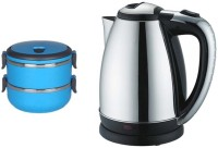 Grind Sapphire Bc55- Lunch Box With Electric Kettle (2 L, Silver)