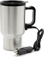 Autofurnish 12 V Car Hot & Cold Insulated Travel Mug Electric Kettle (.450 L, Silver)