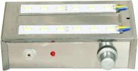 Kaka Ji 12 Smd Metal Emergency Lights (Silver)