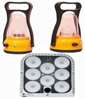 Mobizon Mohit Emergency Light And 2 Lanterns - Pack Of 3 Emergency Lights (yellow)