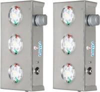 Urjja 3 Led Metal Emergency Lights (Silver)