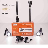 Akari Platina Rechargeable AK-1600L Wzap Led 800 Meters Long Range Torches (Black)