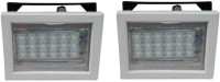 Vimarsh Rechargeable Square 18 LED Bulbs - Set Of 2 Emergency Lights (White, Black)
