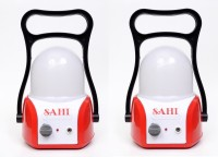 Sahi Rechargeable Led Lantern (Red) With Charger - Set Of 2 Emergency Lights (Red, White)