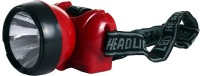 Saihan High Beam Ajustable Head Torches Head Lamp Emergency Lights (Red, Black)