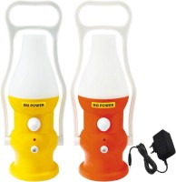 Go Power 20 LED (Set Of 2) With Charger Rechargeable Emergency Lights (Red And Yellow)