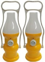 Sahi Rechargeable Minar (yellow) With Charger - Set Of 2 Emergency Lights (Yellow)