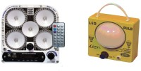 CELLZONE COMBO PACK OF 5 LED WITH FM RADIO & 1 BULB LED RECHARGEABLE Emergency Lights (Multicolor)