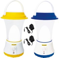 Go Power 12 LED (Set Of 2) With Charger Rechargeable Emergency Lights (Blue And Yellow)