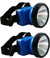 DOCOSS Pack Of 2-Adjustable Head Lamp Bright & Long Range Emergency Lights (Blue)