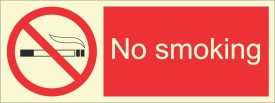 BRANDSHELL No Smoking Emergency Sign