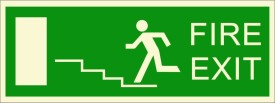 BRANDSHELL Fire Exit Emergency Sign