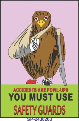 SignageShop You must use safety guards Poster Emergency Sign