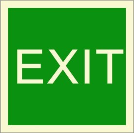 BRANDSHELL EXIT Emergency Sign