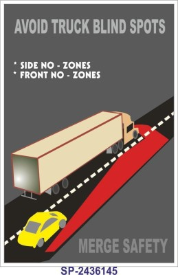 SignageShop Avoid truck blind spots Poster Emergency Sign