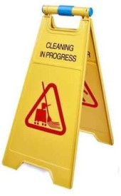 NOVICZ Cleaning in Progress/ Caution Wet Floor Emergency Sign