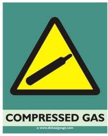 Dishasignage Compressed-Gas Emergency Sign
