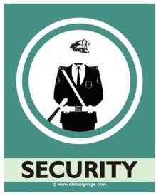 Dishasignage Security Emergency Sign