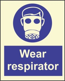 BRANDSHELL Wear Respirator Emergency Sign