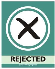 Dishasignage Rejected Emergency Sign