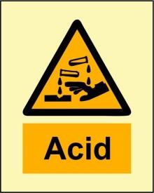BRANDSHELL Acid Emergency Sign