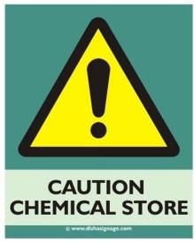 Dishasignage Chemical-Store Emergency Sign