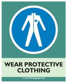 Dishasignage Wear-Protect-Clothing Emergency Sign