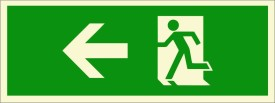 BRANDSHELL Emergency Exit Left Side Emergency Sign
