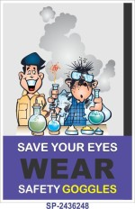 SignageShop Save your eyes Poster Emergency Sign