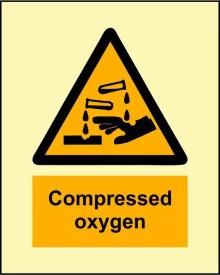 BRANDSHELL Compressed Oxygen Emergency Sign