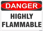 SignageShop Highly Flammable Emergency Sign