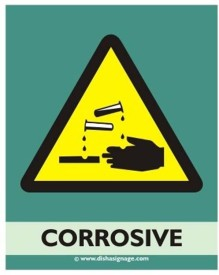 Dishasignage Corrosive Emergency Sign