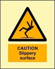 BRANDSHELL Caution Slippery Surface Emergency Sign