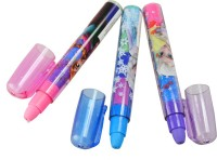 Frozen Super Clean Non-Toxic Pen Shaped Regular Erasers (Set Of 3, Multicolor)