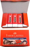 Faber Castell Super Clean Non-Toxic Rectangle Shaped Large Erasers (Set Of 2, Red)