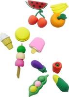 Priyankish Smart Kids Non-Toxic Fruits & Vegetable Eraser Set Shaped Small Erasers (Set Of 3, Multocolor)