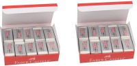 Faber-Castell Dust-Free Non-Toxic Rectangle Shaped Small Erasers (Set Of 2, White)
