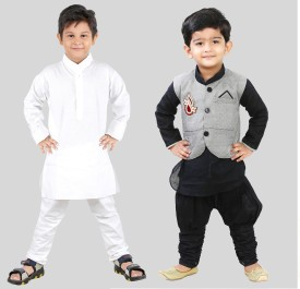 FTCBAZAR Boy's Kurta And Pyjama Set, Kurta, Waistcoat And Pyjama Set