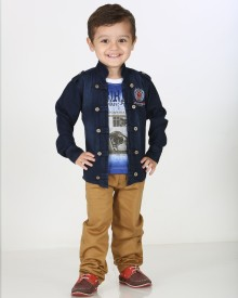 Kishore Dresses Baby Boy's Shirt, Waistcoat and Pant Set