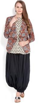 Folklore Women's Kurta, Waistcoat And Pyjama Set - ETHE8R62XBN9NPVG